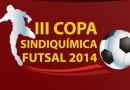 III Copa SindiQuímica começa dia 26 de janeiro
